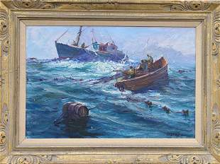 """Trap Boat"", Robert Charles Gruppe (b.1944)."