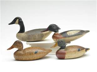 Four miniature carvings, Nathan Rowley Horner, West