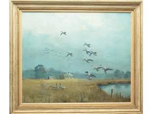 Oil on canvas, George Browne (1918-1958).