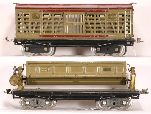 511: 2 LIONEL St. Ga Early Freight Cars, 213; 218:NETTE