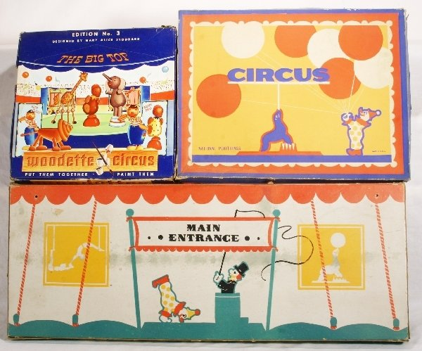1097: 3 pc, Boxed Circus Toy Lot: NETTE