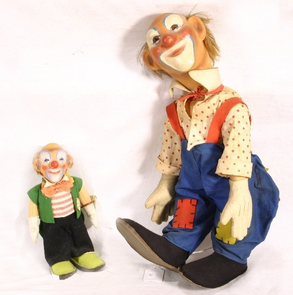11: NETTE-2 STEIFF Clownie Dolls: