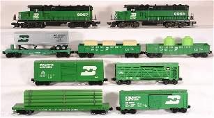 322: NETTE-9 pc. Burlington Northern Mixed Freight Set: