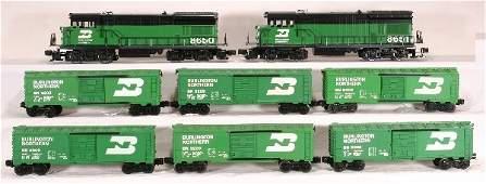 325: NETTE-8 pc. Burlington Northern Freight set: