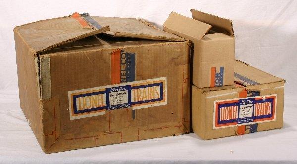 5: NETTE - 2 Empty LIONEL Pre O Ga. Set Boxes: