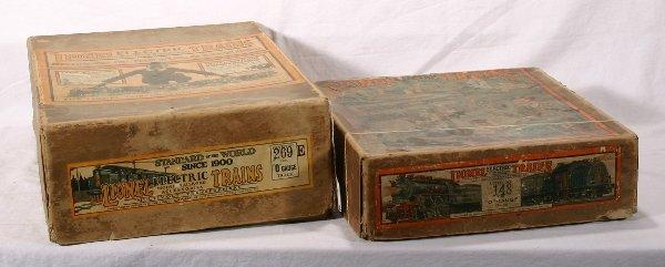 7: NETTE - 2 Empty LIONEL Pre O Ga. Set Boxes: