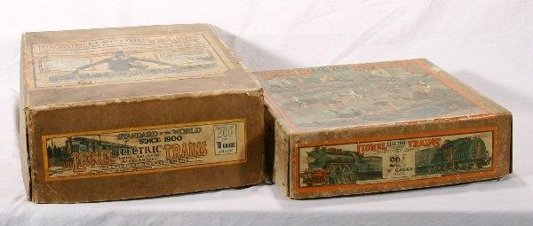 8: NETTE - 2 Empty LIONEL Pre O Ga. Set Boxes: