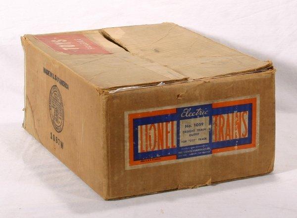 9: NETTE - Empty LIONEL Set Box #1059: