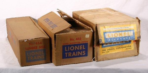 11: NETTE - 3 Empty LIONEL Postwar Boxes: