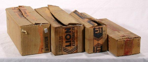 12: NETTE - 4 Empty LIONEL St. Ga. Boxes: