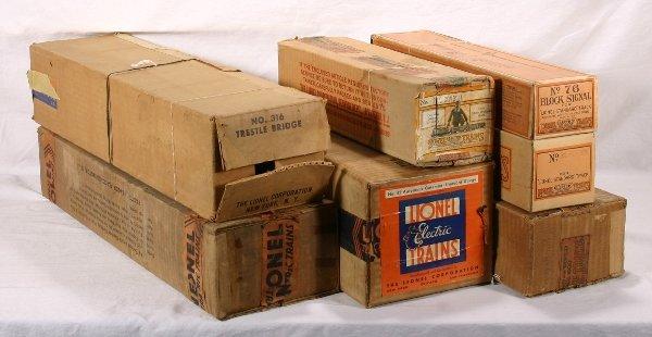 13: NETTE - 7 Empty LIONEL St. Ga. Boxes: