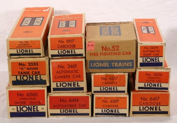 18: NETTE - 8 Empty LIONEL Postwar Boxes: