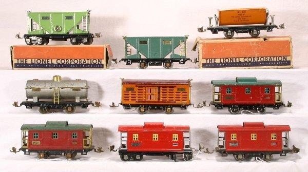 19: NETTE - 9 LIONEL Pre O Freight Cars: