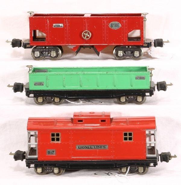 4: NETTE - 3 LIONEL Pre O Freight Cars: