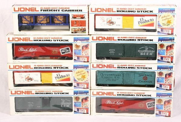 17: NETTE - 8 LIONEL/MPC Freight Cars: