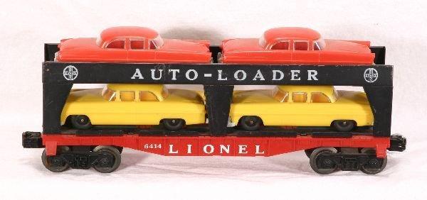76: NETTE - LIONEL 6414 Flat w/ Gray Bumper Cars: