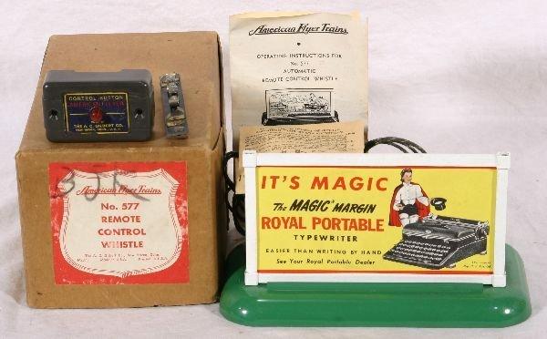 397: NETTE - Boxed AM FLYER 577 Royal Typewriter: