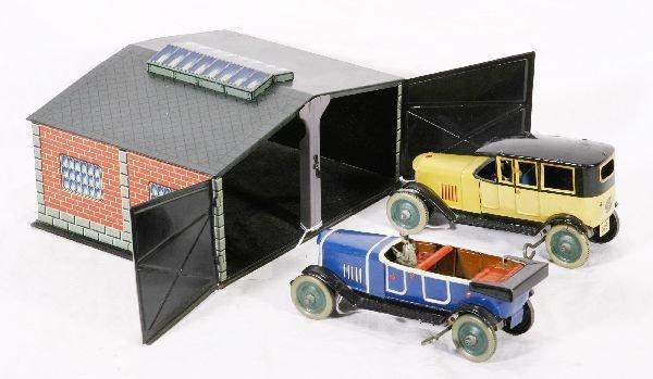 944: NETTE - Super DISTLER Garage w/Autos: