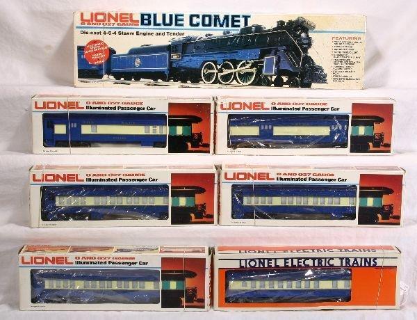 362: NETTE - 7 Pc. LIONEL MPC Blue Comet Set: