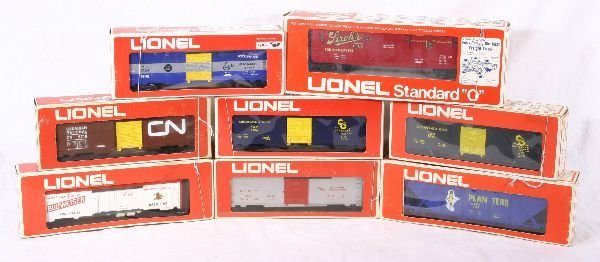 366: NETTE - 8 LIONEL/MPC Freight Cars: