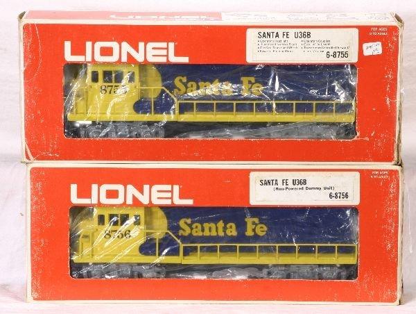 372: NETTE - LIONEL/MPC 8755 & 8756 SF U36B AAs: