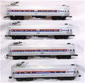 389: NETTE - 4 Pc. K-LINE Amtrak Metroliner:
