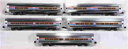432: NETTE - 5 Pc. E. WELZ Amtrak Metroliner Cars: