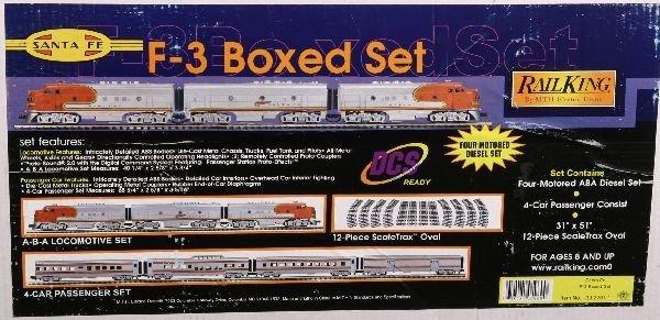 10: NETTE - MTH RailKing 30-2701-1 SF Boxed Passenger S