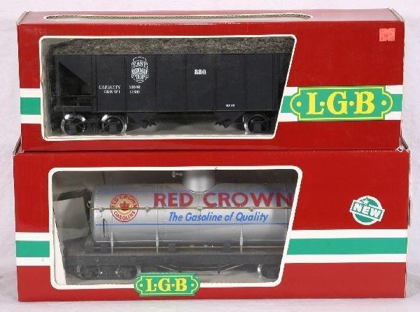 372: NETTE - 2 LGB G Ga. Freight Cars: