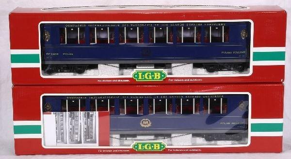 374: NETTE - 2 LGB G Ga. 31655 Orient Express Cars: