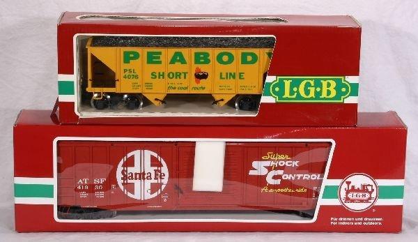375: NETTE - 2 LGB G Ga. Freight Cars: