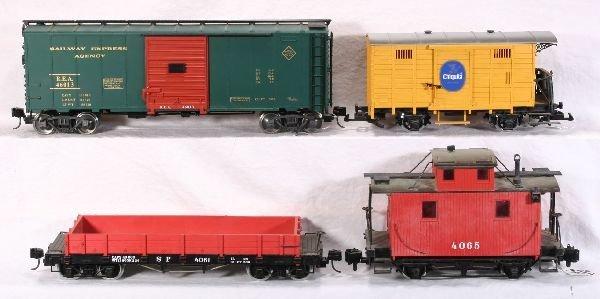 378: NETTE - 4 G Ga. Freight Cars: