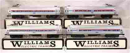 92: NETTE - 4 Pc. WILLIAMS Amtrak Metroliner Set:
