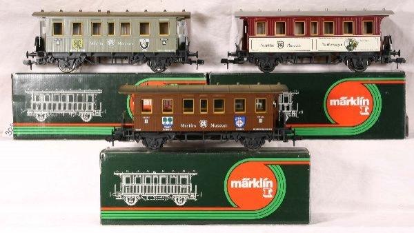 329: NETTE - 3 MARKLIN I Museum Pass. Cars: