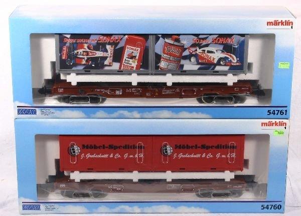 331: NETTE - MARKLIN Maxi 2 Container Flats:
