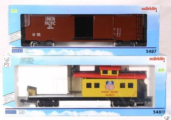 342: NETTE - MARKLIN Maxi 5487 & 54811 UP Freights: