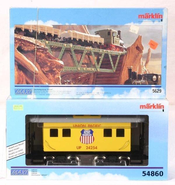 343: NETTE - MARKLIN Maxi 54860 UP Caboose, Plus: