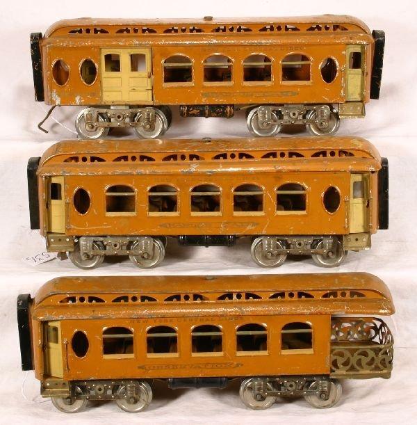 531: NETTE - Scarce LIONEL 19 Series Orange Pass. Cars: