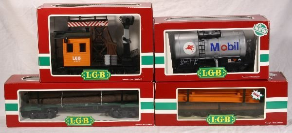 327: NETTE - 4 LGB G Ga. Freight Cars: