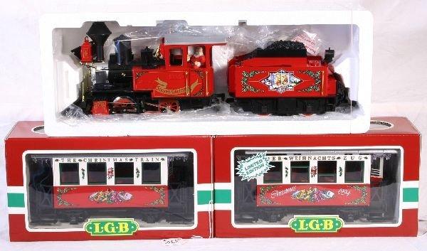 334: NETTE - 3 Pc. LGB G Ga. Xmas Train Set: