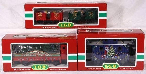 337: NETTE - 3 LGB G Ga. Xmas Cars: