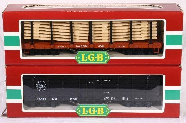 342: NETTE - 2 LGB G Ga. D&RGW Bogey Truck Freights: