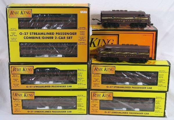 337: NETTE - 6 Pc. MTH RailKing PRR Passenger Set: