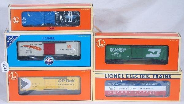 341: NETTE - 5 LTI Boxcars: