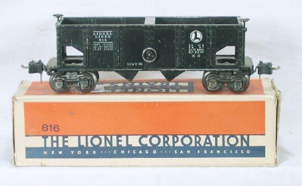 861: NETTE - Tough Boxed LIONEL 816 Black Hopper: