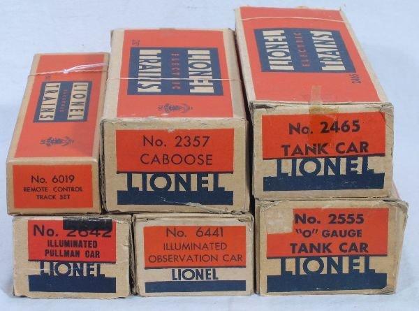 2: NETTE - 6 LIONEL Empty Boxes: