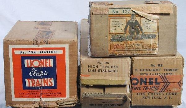 21: NETTE - 4 Empty LIONEL Boxes, 94, 126, 127, 92: