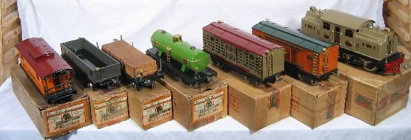 857: NETTE - Fantastic Boxed  8 Pc. LIONEL 402E Set: - 3