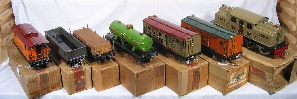 857: NETTE - Fantastic Boxed  8 Pc. LIONEL 402E Set: - 4