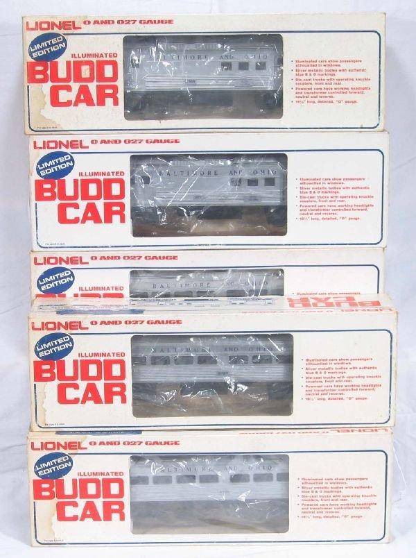 1: NETTE - 5 Pc. LIONEL/MPC Budd Car Set: